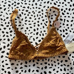NWT Mustard Lace Bralette
